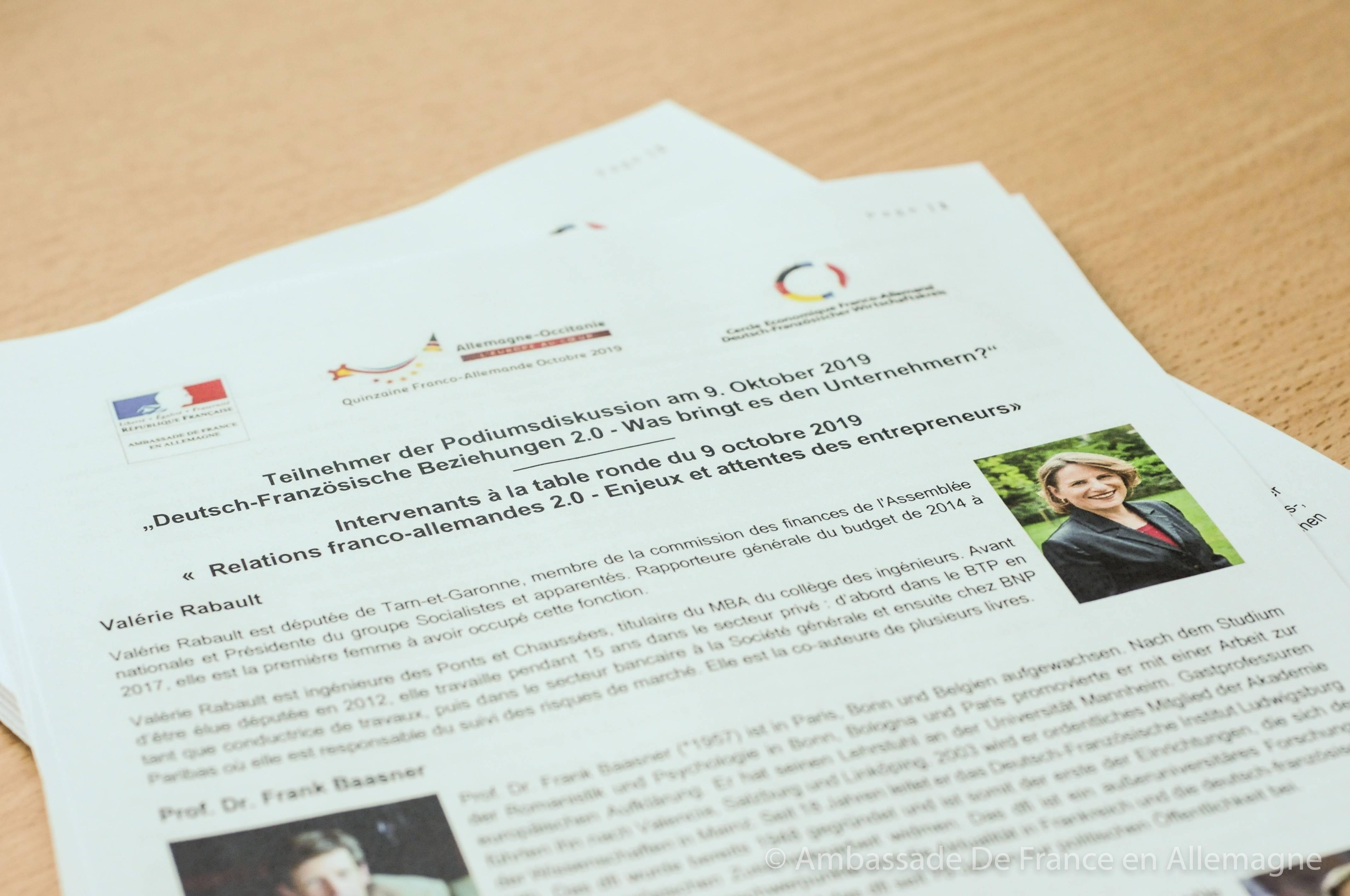 Programme relations franco-allemandes 2.0 - Ambassade de France - Quinzaine franco-allemande d'Occitanie 2019